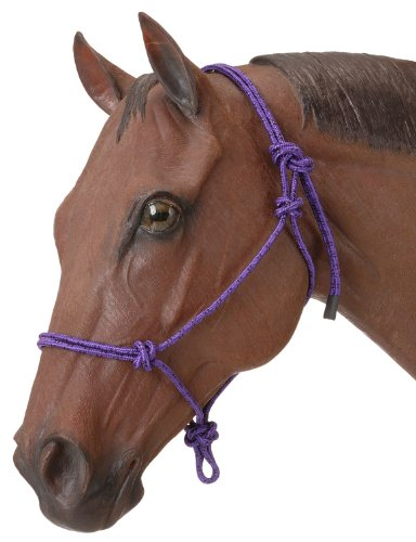 Tough 1 Poly Rope Tied Halter, Purple