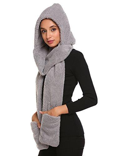 crochet hooded scarf - 3