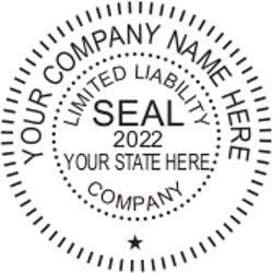 Black Hubco Traditional Business Stamp Seal with Old-fasioned Wood Handle 1.6 x 1.6 Inches Tan 1 Count