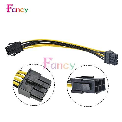 Davitu Connectors - 6 Pin Feamle to 8 Pin Male PCI Express Power Converter Cable CPU Video Graphics Card 6Pin to 8Pin PCIE Power Cable Connector - (Connector Type: Line Connector) ()