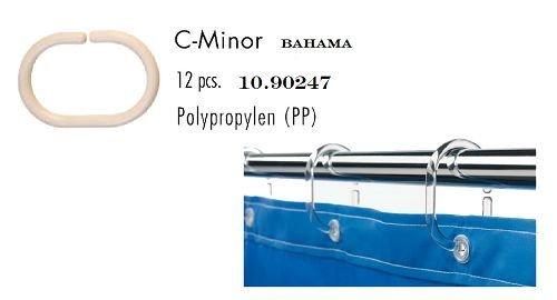 Price comparison product image Leifheit C-Minor Bahama Beige Shower Curtain Rings - 12 Pcs.