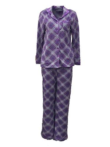Purple Pink Plaid Fleece - 9