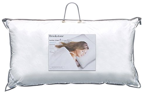 Brookstone Classic Pillow with 37.5 Temperature Regulating Technology, Medium-King, Side Sleeper by Brookstone