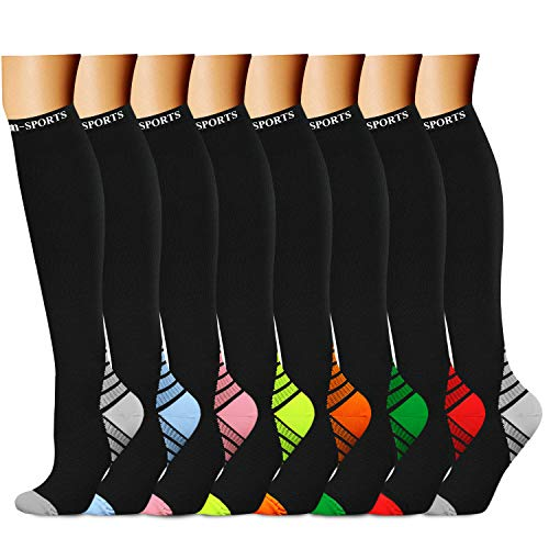 07a4d69cd95 ... CHARMKING Compression Socks 15-20 mmHg is BEST Graduated Athletic    Medical for Men