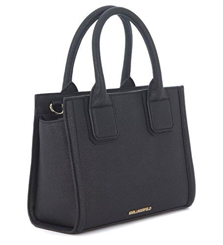 Klassic mano Lagerfeld pelle saffiano a nera in Borsa Karl qI5FAw4