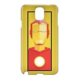 Loud Universe Samsung Galaxy Note 3 3D Wrap Around Iron Man Tony Stark Triangular Print Cover - Yellow