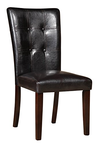 Homelegance 2456S Side Chair Upholstered, Set of 2 - Brown Cherry Dining Chairs