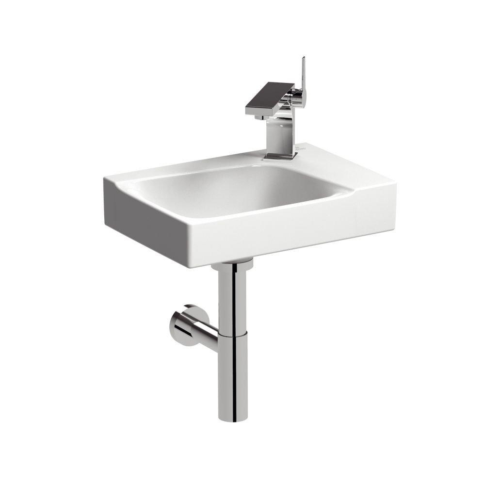 Keramag Handwaschbecken 400x280mm, XENO² 400x280mm, Handwaschbecken m Hahnloch rechts weiß aeb030