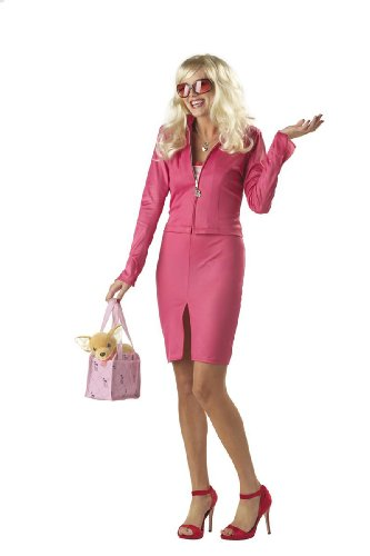 Womens MED (8-10)- Ht Pink- Licensed Legally Blonde Elle Woods (Halloween Costume Blonde)