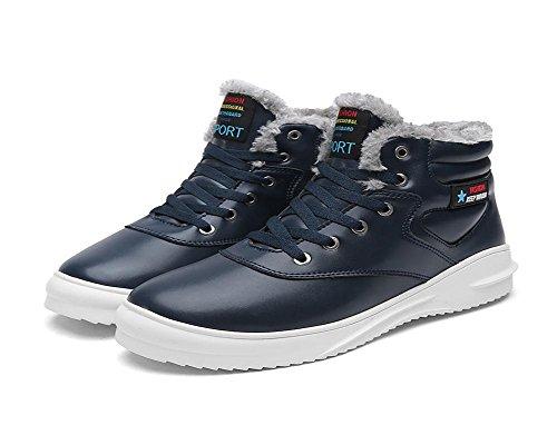 Loisirs Hommes Chaud Garde Aide Plus Hiver Au Taille Cachemire Coton Blue Imperméable Élevée Exercice De Chaussures Neige Grande pwx8Aqapr