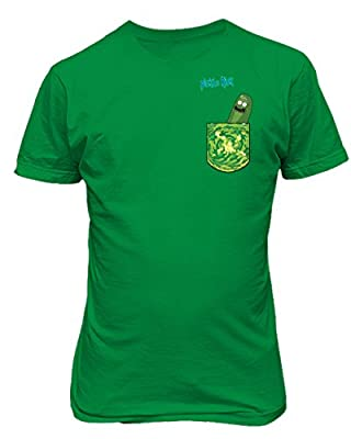 Rick and Morthy Picke Rick Tiny Pocket Shirt TV Funny Mens T-Shirt