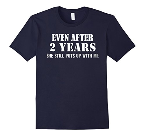 Men's Funny Anniversary Gifts For Him - 2 Years Anniversary Gifts 2XL Navy