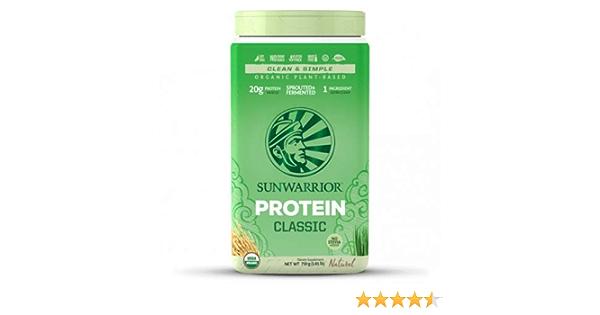 Sunwarrior Classic - Proteína de arroz vegana (750 g)
