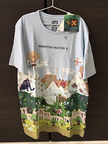 ユニクロ モンスターハンター Tシャツ UNIQLO 水色の商品画像