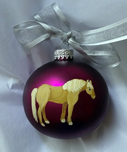 haflinger horse hand painted christmas ornament can be personalized with name