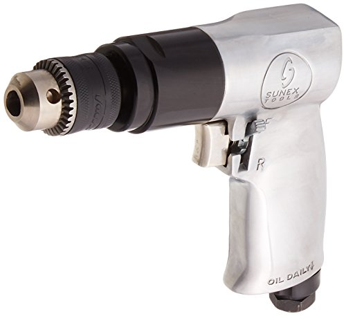 Reversible Air Drill Tool - Sunex 223 3/8-Inch Reversible Air Drill with Geared Chuck