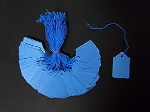 Azul de encordada etiquetas 43 mm x 27 mm (azul de cuerda) de la joyería de Unión de etiquetas en las etiquetas (, 5000 unidades) de la hiedra