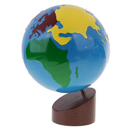 MonkeyJack Montessori Geography Material - Globe of World Parts for Kids Early Learning Toys Gift