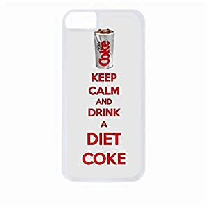 Keep Calm and Drink a Diet Coke- Hard White Plastic Snap - On Case-Apple Iphone 6 Plus Only - Great Quality!