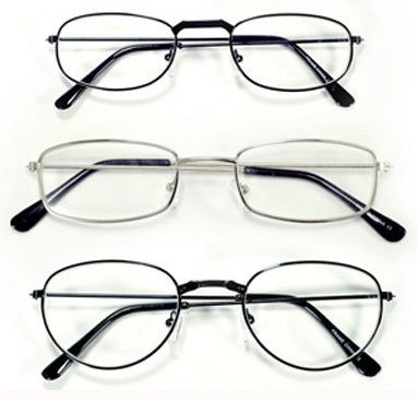 3 PAIRS PACK Men Women Unisex Metal Readers 1.00 1.25 1.50 1.75 2.00 2.25 2.50 2.75 3.00 3.50 (Selection 2.00)