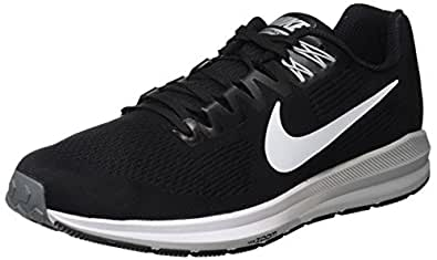 Nike Men's Air Zoom Structure 21 Shoes, Black, White-Wolf Grey-Cool Grey, 11 US