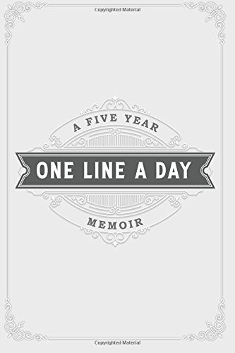 One Line a Day Journal: A Five Year Memoir: 6x9 Lined Diary, Soft Gray (Journals, Notebooks and Diaries)