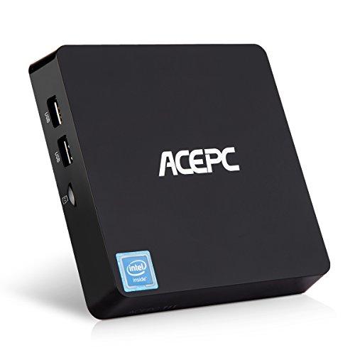 Mini PC Intel Cherry Trail Fanless Desktop Computer Windows 10 (64Bit) [Intel Atom X5-Z8350/4GB/32GB/Dual-Band Wi-Fi/4k/Bluetooth/USB3.0] (Best Laptop To Run League Of Legends)