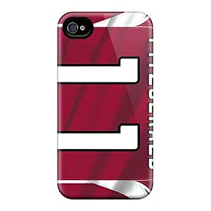 Awesome DFmJi6253 AngelaMs Defender Tpu Hard Case Cover For Iphone 4/4s- Arizona Cardinals