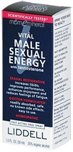 Vital Sexual Male Energy Spray (Liddell Vital Male Sexual Energy with Testosterone 1 0 fl oz 30 ml)