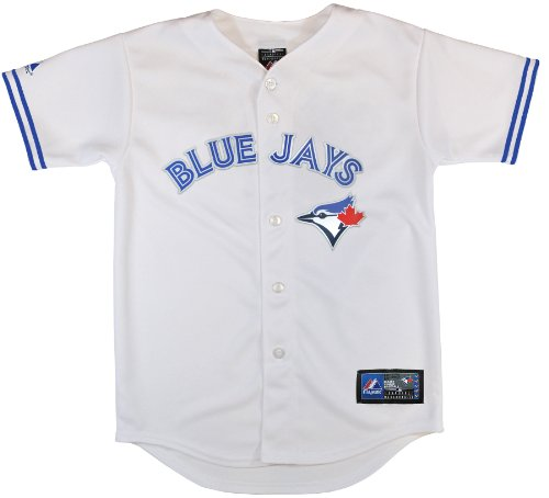 MLB Toronto Blue Jays Replica Jersey, White, Medium (Authentic Blue Baseball Jersey)