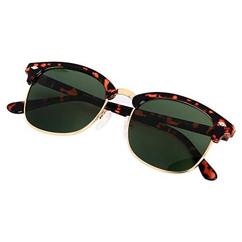 Polarized Sunglasses for Men Women Classic Half Frame Semi Rimless ANDWOOD Polarized Uv ()