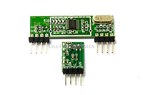 315MHz Superheterodyne RF Link Transmitter and Receiver Kits 3400 Radio Frequency Receiving Module