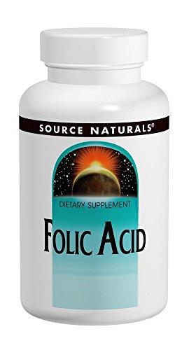 SOURCE NATURALS Folic Acid 800 Mcg Tablet, 200 Count