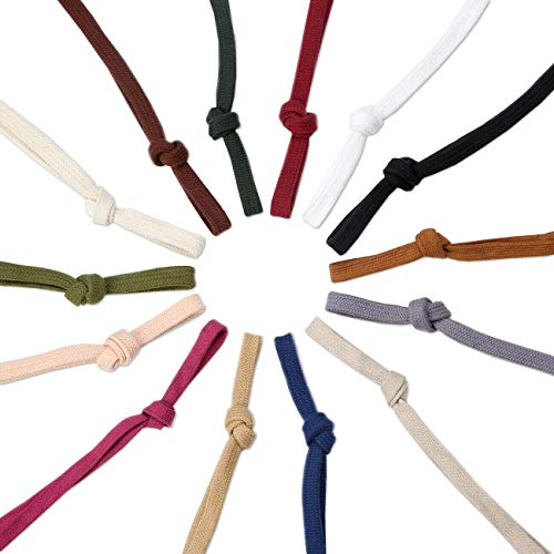 Sweatshirt Hoodie Flat Cotton Tape Ribbon Cord Rope,10 & 15mm,Garment Hoody Drawstring. 26 Colours, 1mt, 5mts, 25mts and 45mts Rolls. Colours Match Neotrims Flanged 12mm Piping and 6mm Round - Ribbon Match