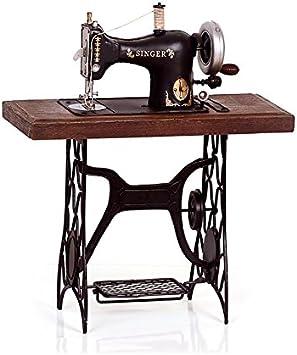 zyrd Vintage Antiguo Hierro forjado modelo de máquina de coser Manualidades hecho a mano adornos Nostalgia tienda de ropa decoración: Amazon.es: Hogar
