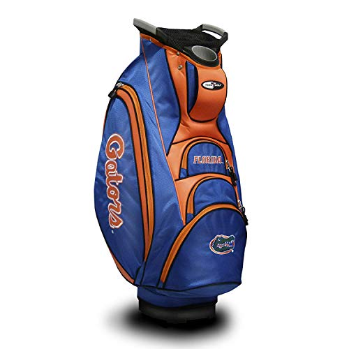 Florida Golf Nylon Gators - Team Golf NCAA Florida Gators Victory Golf Cart Bag, 10-way Top with Integrated Dual Handle & External Putter Well, Cooler Pocket, Padded Strap, Umbrella Holder & Removable Rain Hood