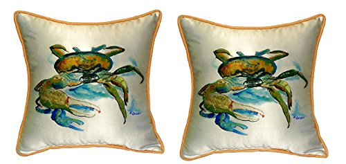 Pair of Betsy Drake Fiddler Crab Small Pillows 12 Inch X 12 Inch price