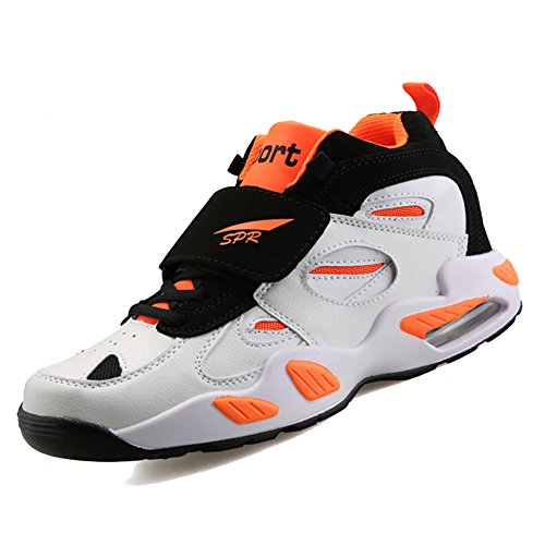 US Basketball Lace Air Men's Leather Shoes M up Orange M 7 Court Black D XiaoYouYu Velcro Suede Ea8xq44wU