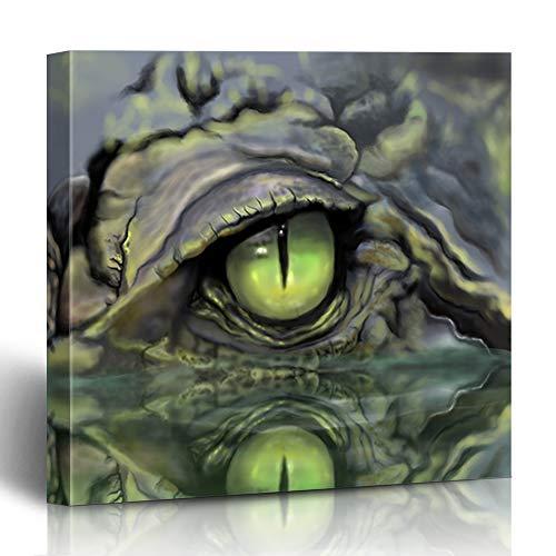 Alligator Canvas - InterestDecor Canvas Prints Wall Art 12