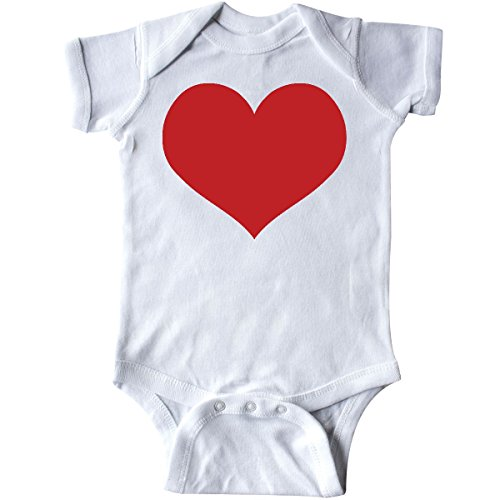 Infant Onesie Creeper (Inktastic - Red Heart Valentine Infant Creeper 6 Months White)