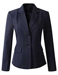 Benibos Womens Formal 2 Button Blazer Jacket