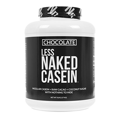 Less Naked Casein - Chocolate Micellar Casein Protein from US Farms - 5 Pound Bulk, GMO-Free, Gluten-Free, Soy-Free, Preservative-Free - Stimulate Muscle Growth - Enhance Recovery - 60 Servings