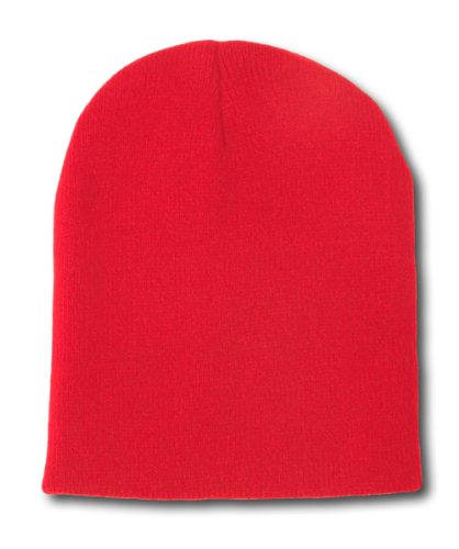 60f9c4586d9 Red Knit Beanie at Amazon Men's Clothing store  Skull Caps