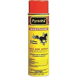 Pyranha 001AERO 068027 Insecticide Aerosol Fly Control for Horses Citronella, 15 oz