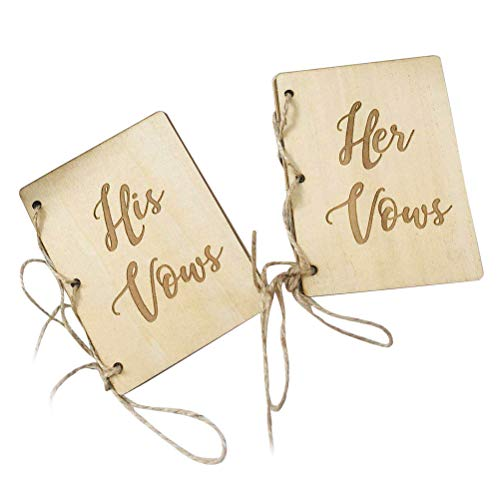 BESTOYARD His and Her Vow Books Wedding Supplies Bride and Bridegroom Booklet for Wedding 2PCS