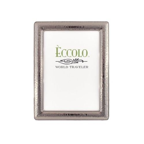 Eccolo World Traveler Gunmetal Plated Frame, Holds 4 by 6-Inch Photo, Narrow Hammered