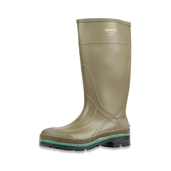 "Servus MAX 15"" PVC Chemical-Resistant Soft Toe Men's Work Boots, Navy, Red & Black (75126) 1"
