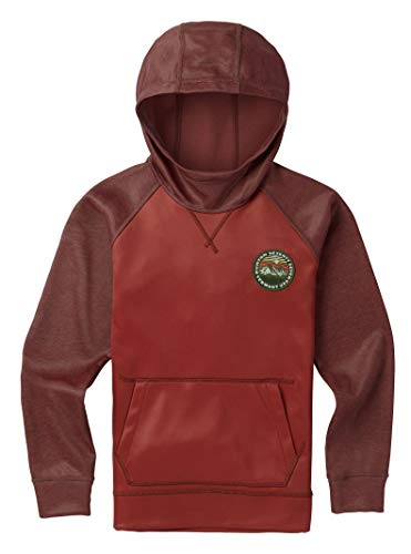 Burton Boys' Crown Bonded Pullover Hoodie, Bitters/Sparrow, X-Small