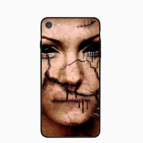 Scary Halloween Makeup iPhone 6S Case for Girls,iPhone 6 Case,Hard PC Case Anti Slip Protective Cover for iPhone 6/6S 4.7