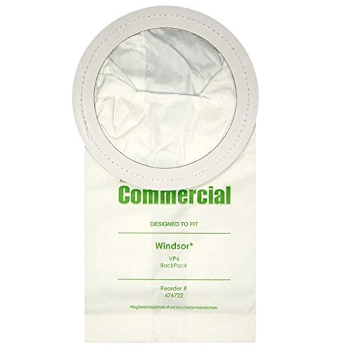 (10) Premium Replacement Commercial Vacuum Bag, For Windsor VP6 Vacuum Cleaners by Windsor